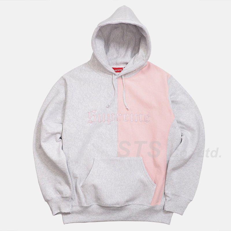 Supreme - Split Old English Hooded Sweatshirt