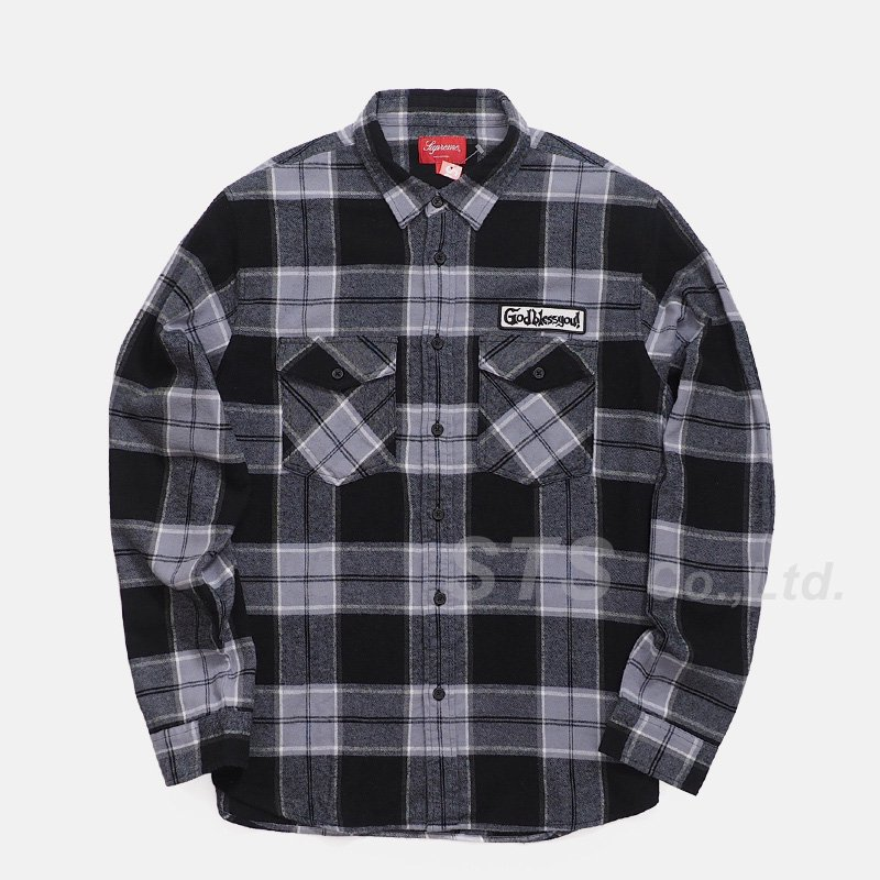 Supreme - God Bless Plaid Flannel Shirt