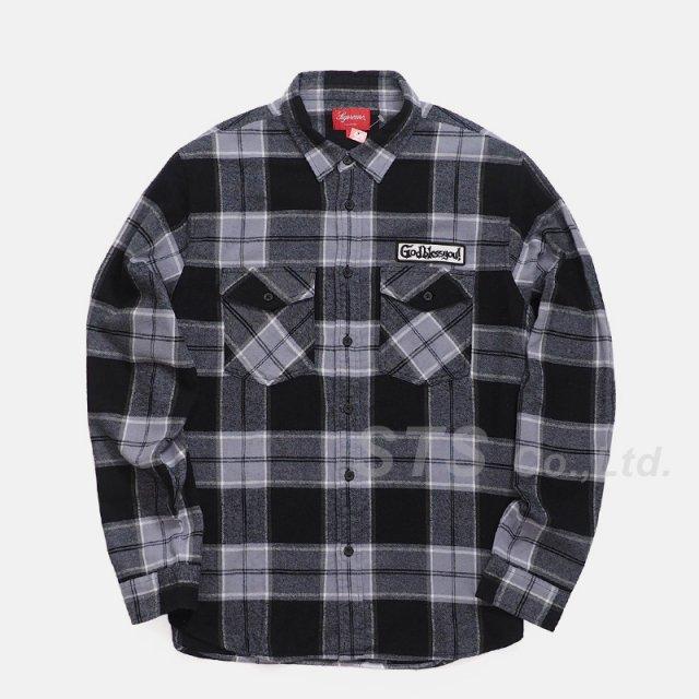 Supreme - God Bless Plaid Flannel Shirt