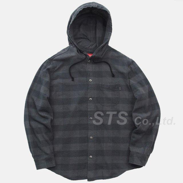 Supreme - Hooded Buffalo Plaid Flannel Shirt