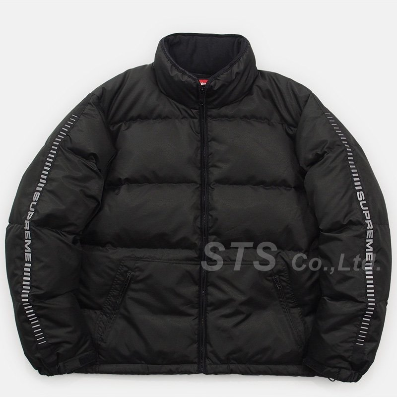 Supreme - Reflective Sleeve Logo Puffy Jacket