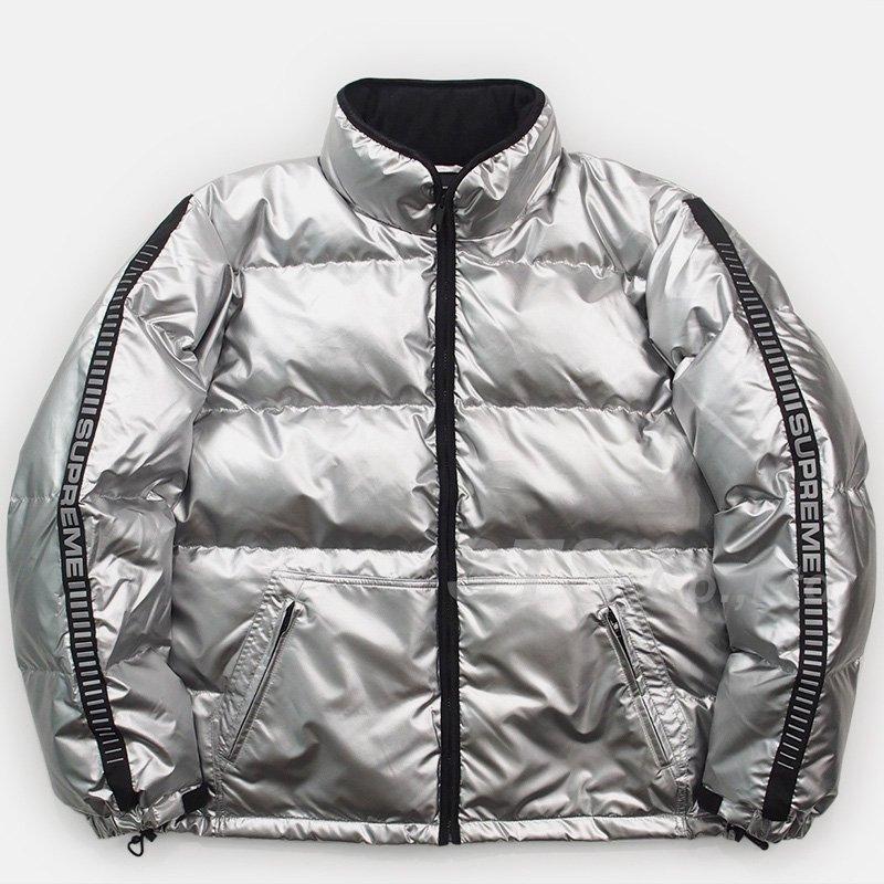 e10f13a8 Supreme - Reflective Sleeve Logo Puffy Jacket - UG.SHAFT