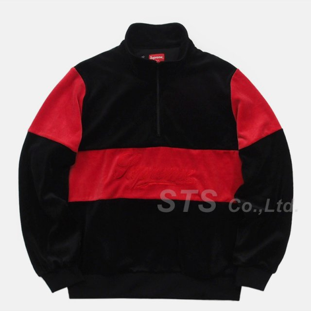 Supreme - Velour Half Zip Pullover
