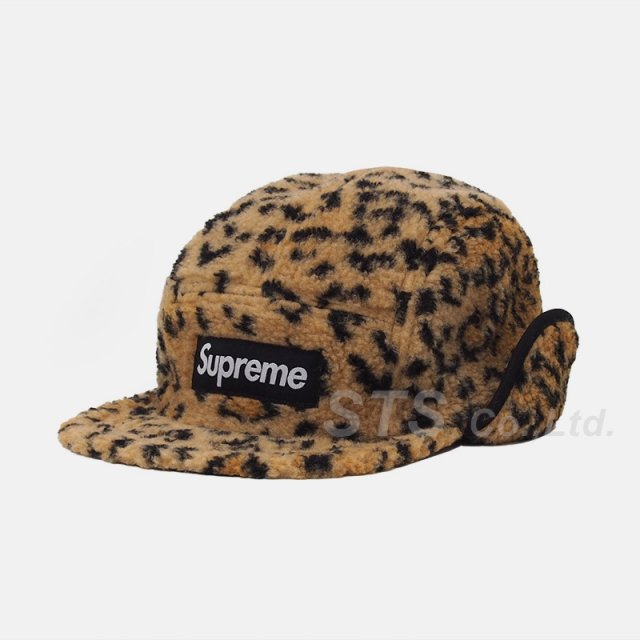 Supreme - Leopard Polar Fleece Earflap Camp Cap