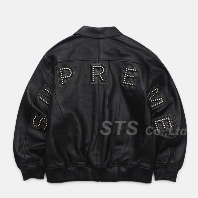 Supreme - Studded Arc Logo Leather Jacket