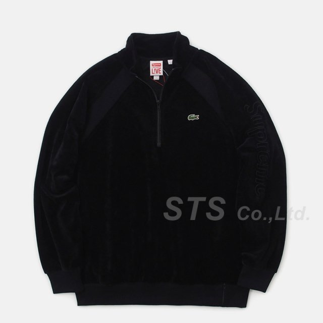 Supreme/LACOSTE Velour Half-Zip Track Top