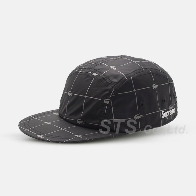 Supreme/LACOSTE Reflective Grid Nylon Camp Cap