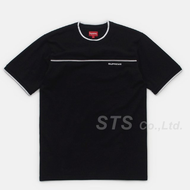 【SALE】Supreme - Contrast Yoke Pique Top