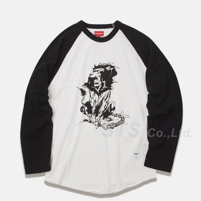 Supreme - Lion Raglan Baseball Top