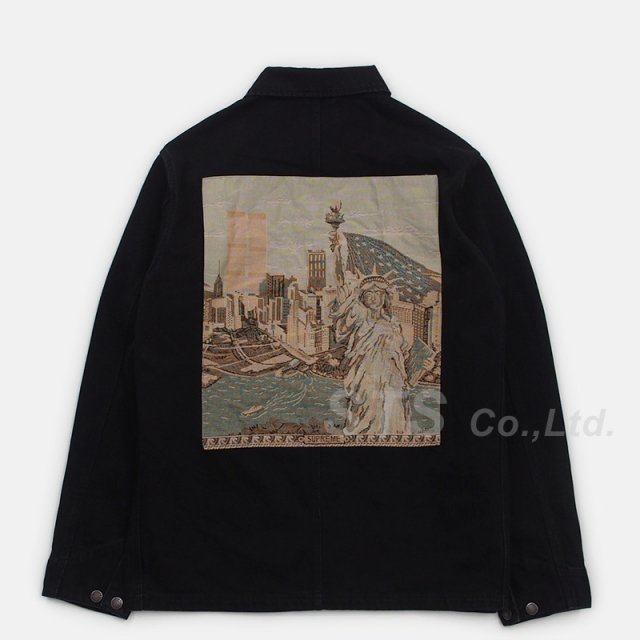 Supreme - NY Tapestry Denim Chore Coat