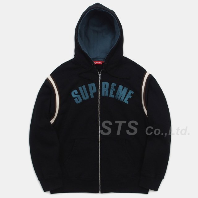 Supreme - Jet Sleeve Zip Up Hooded Sweatshirt
