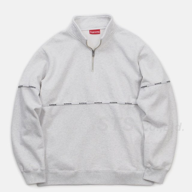 Supreme - Logo Piping Half Zip Sweatshirt