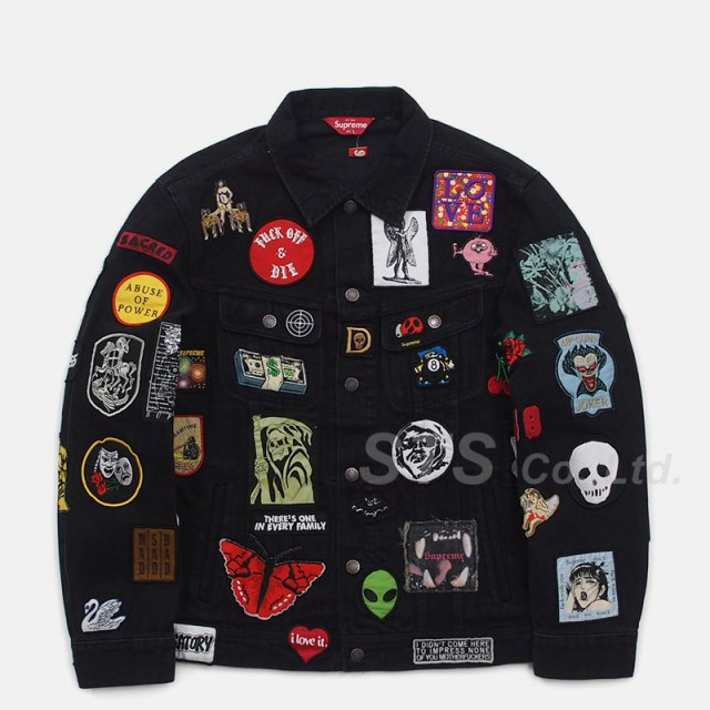 Supreme - Patches Denim Trucker Jacket