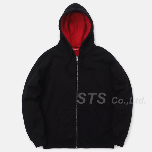 【SALE】Supreme - Contrast Zip Up Hooded Sweatshirt