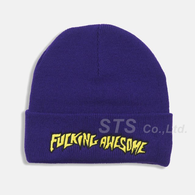 Fucking Awesome - Outline Yellow Beanie