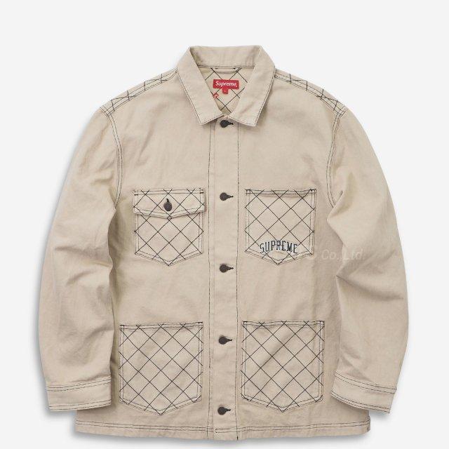 Supreme - Diamond Stitch Denim Chore Coat
