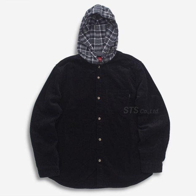 Supreme - Hooded Color Blocked Corduroy Shirt