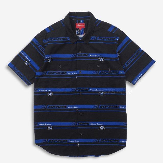 Supreme - Striped Racing Work Shirt