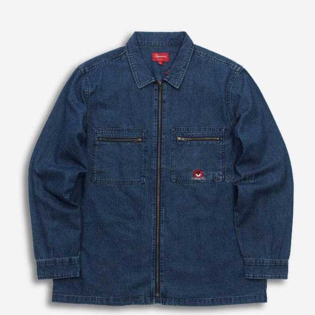 【SALE】Supreme - Vampire Denim Zip Up Shirt
