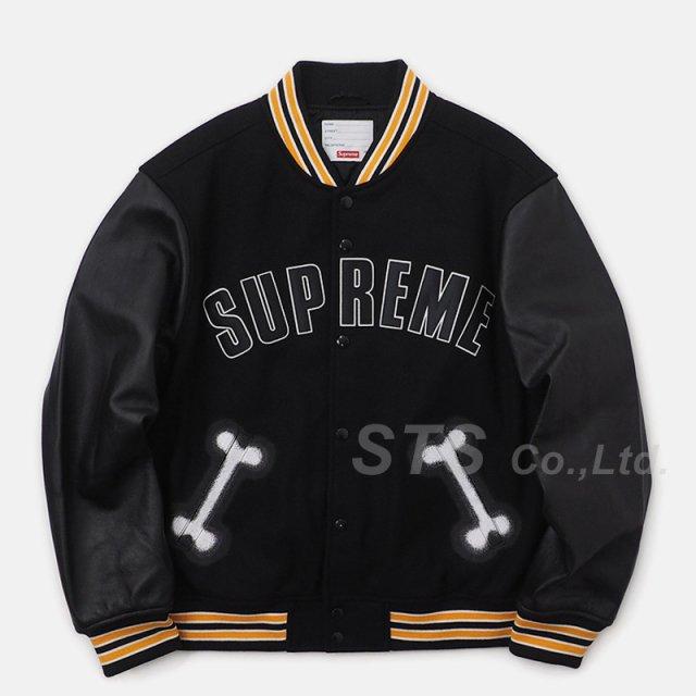 Supreme - Bone Varsity Jacket