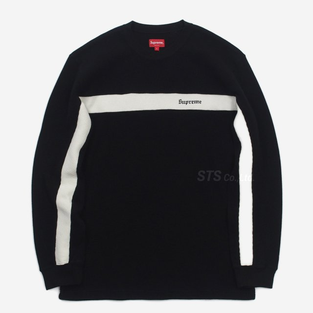 Supreme - Panel Stripe Waffle Thermal