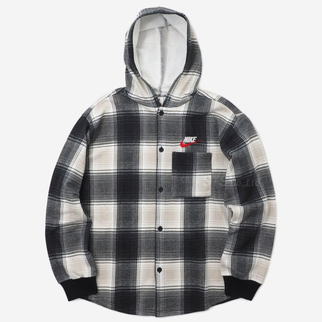 Supreme/Nike Plaid Hooded Sweatshirt