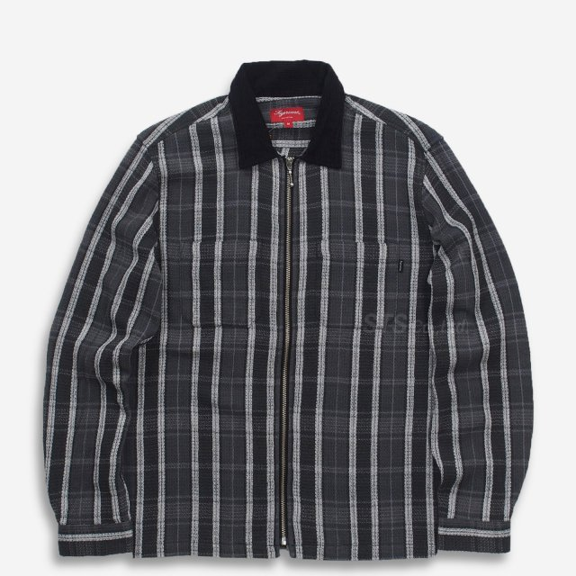 【SALE】Supreme - Plaid Thermal Zip Up Shirt