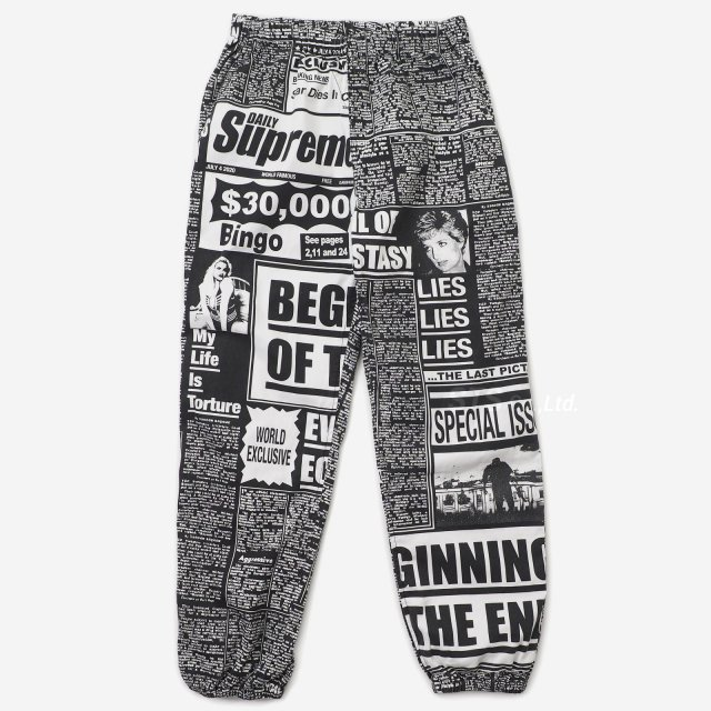 Supreme - Newsprint Skate Pant
