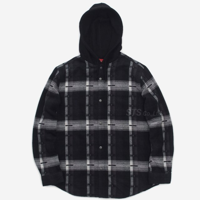 Supreme - Hooded Jacquard Flannel Shirt