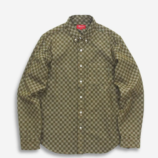 【SALE】Supreme - Checkered Denim Shirt