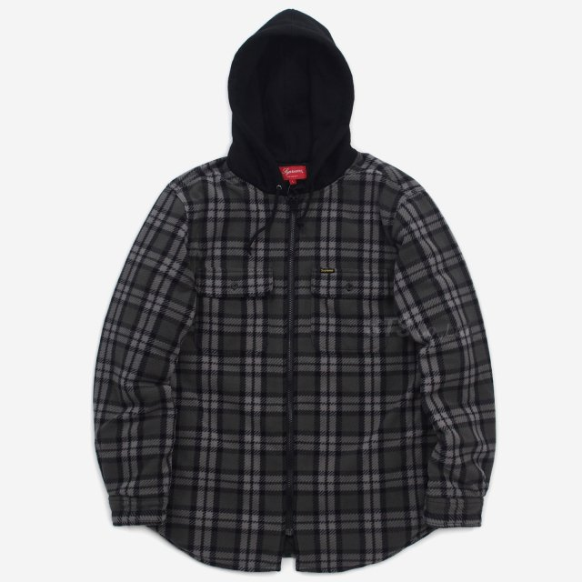 Supreme - Hooded Plaid Work Shirt