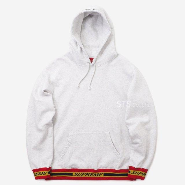 Supreme - Striped Rib Hooded Sweatshirt