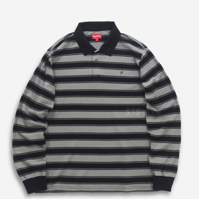 【SALE】Supreme - Striped L/S Polo