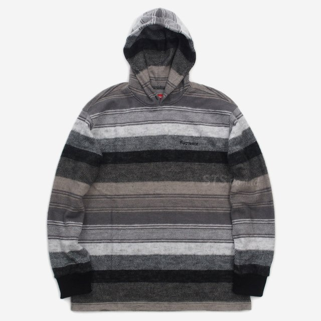 【SALE】Supreme - Knit Stripe Hooded L/S Top