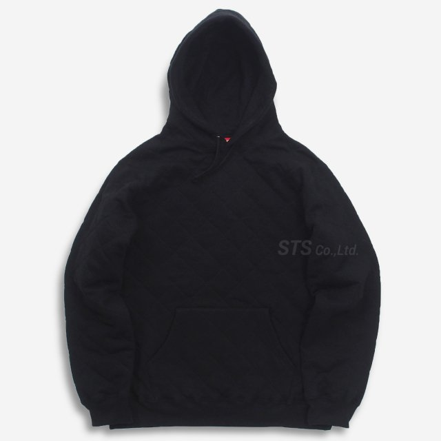 【SALE】Supreme - Quilted Hooded Sweatshirt