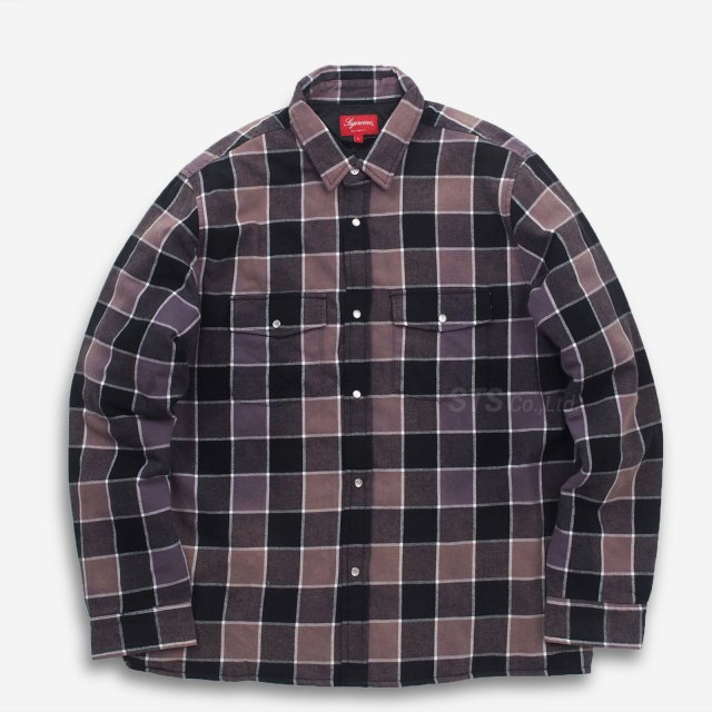 Supreme - Quilted Faded Plaid Shirt