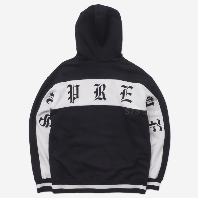 Supreme - Old English Stripe Zip Up Sweatshirt