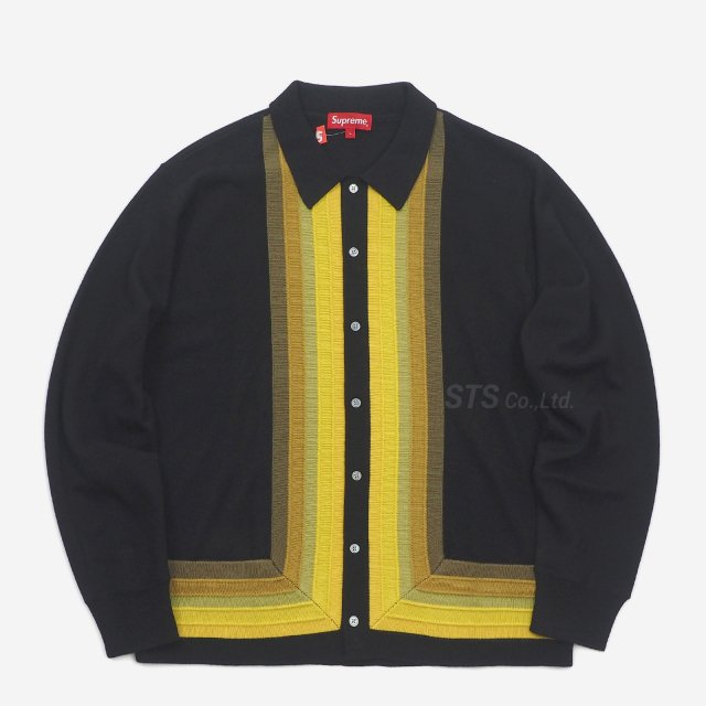 Supreme - Corner Stripe Polo Sweater