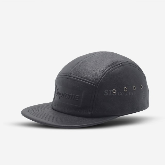 Supreme - Pebbled Leather Camp Cap