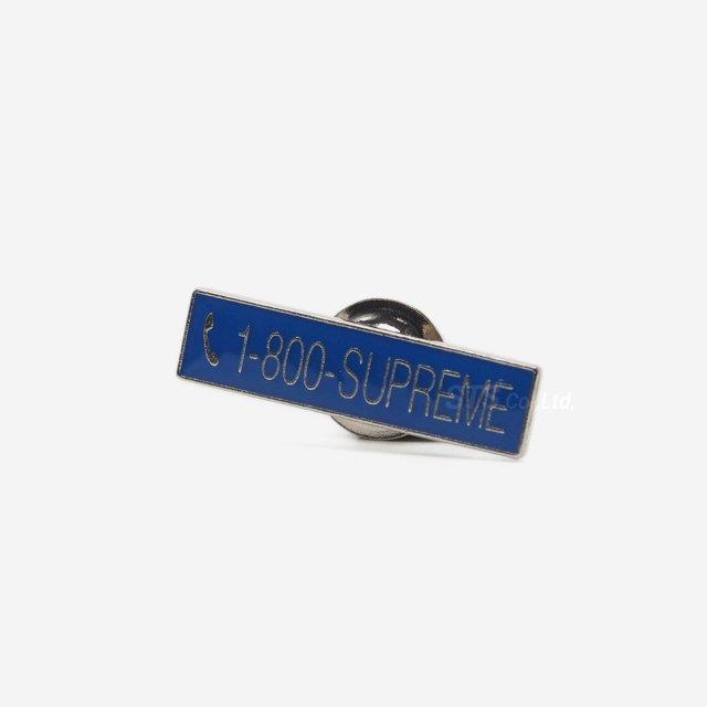 Supreme - 1-800 Supreme Pin