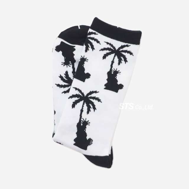 Paradis3 - Liberty Palm Crew Socks