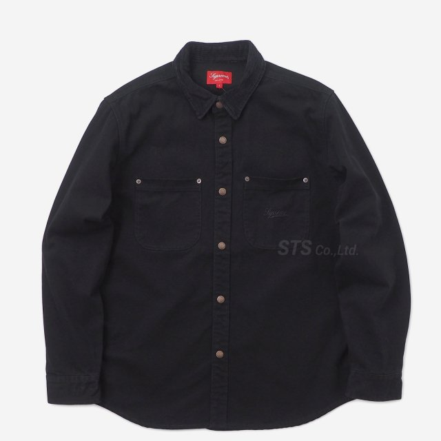 Supreme - Script Canvas Snap Shirt