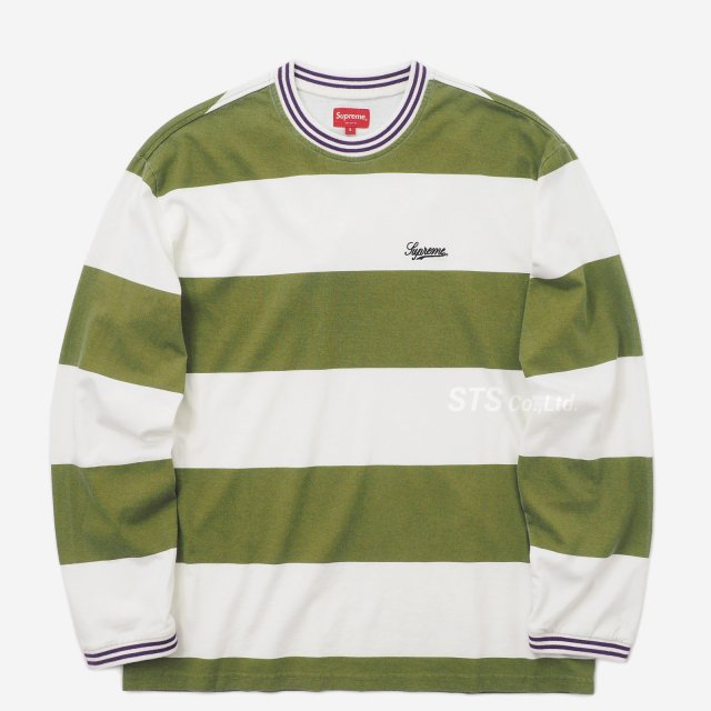 Supreme - Printed Stripe L/S Top