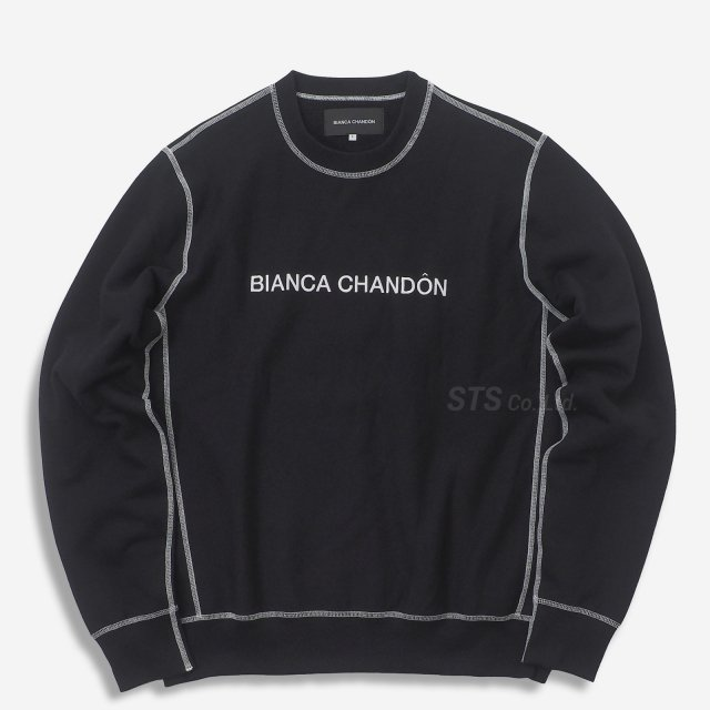 Bianca Chandon - Contrast Stitch Logotype Crewneck
