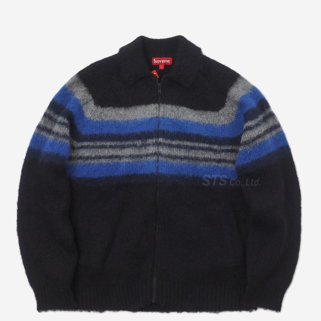 Supreme - Brushed Wool Zip Up Sweater
