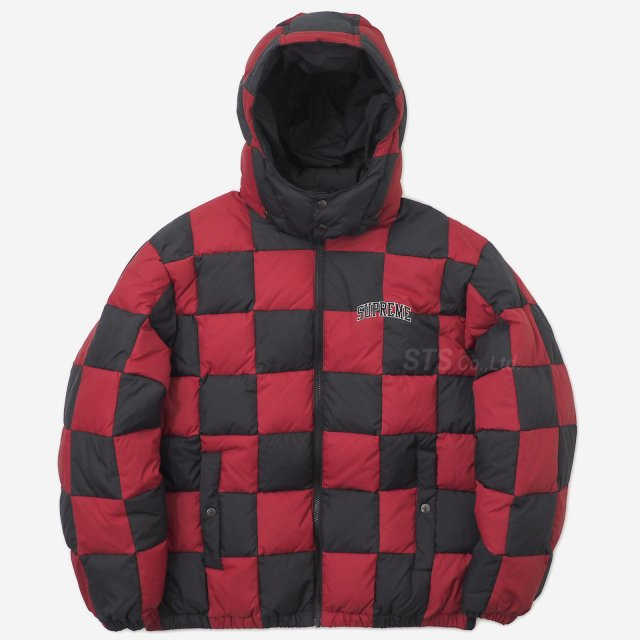 【SALE】Supreme - Checkerboard Puffy Jacket