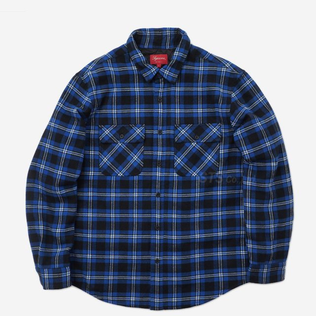 Supreme - Arc Logo Quilted Flannel Shirt