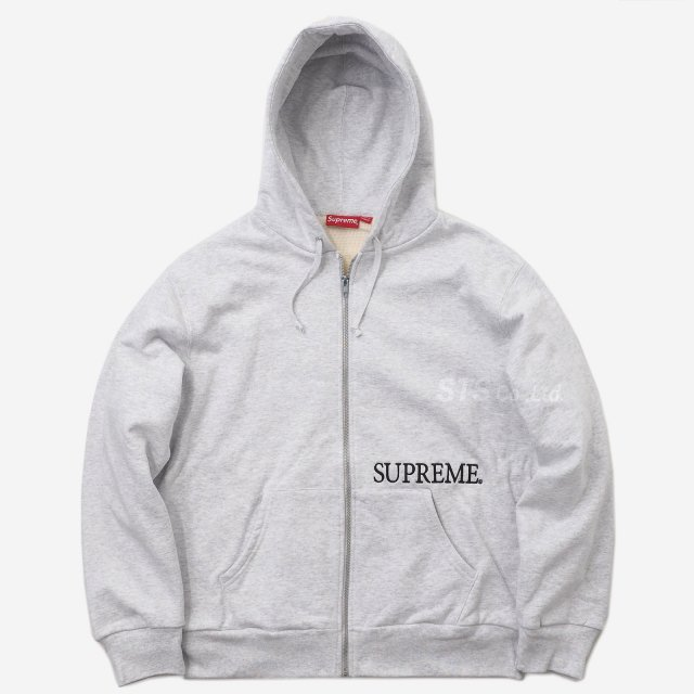 Supreme - Thermal Zip Up Hooded Sweatshirt