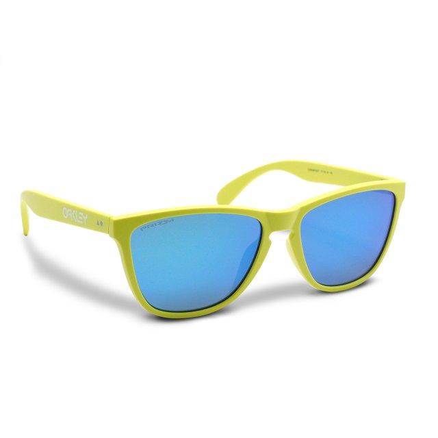 Oakley - Frogskins (A) / Matte Neon Yellow Prizm Sapphire