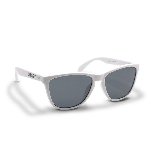 Oakley - Frogskins (A) / Polished White Prizm Grey